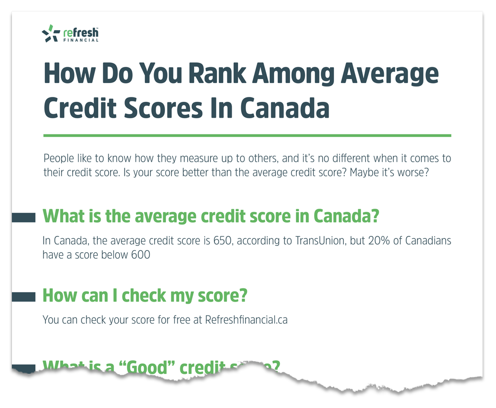 What is the Average Credit Score in Canada and How do You
